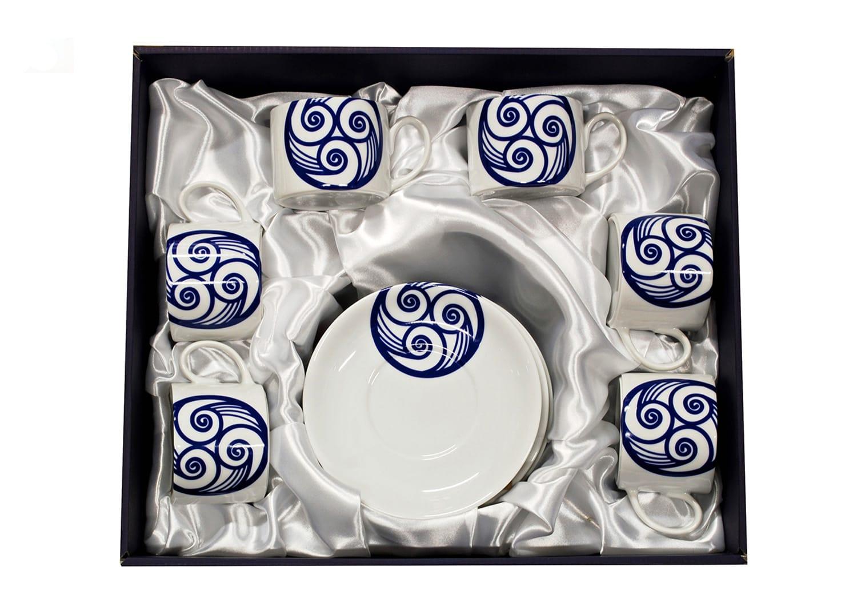 Six-cup tea set. Pombal design. Lua collection.
