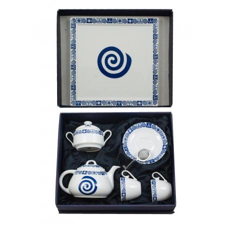 Six-piece tea set. Volare design, Celta collection.