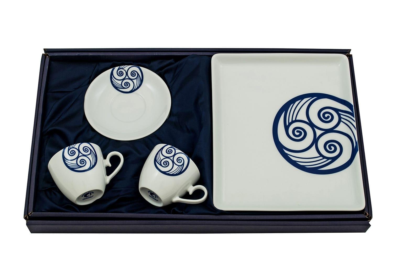 Three-piece coffee set. Volare desing, Lua collection.