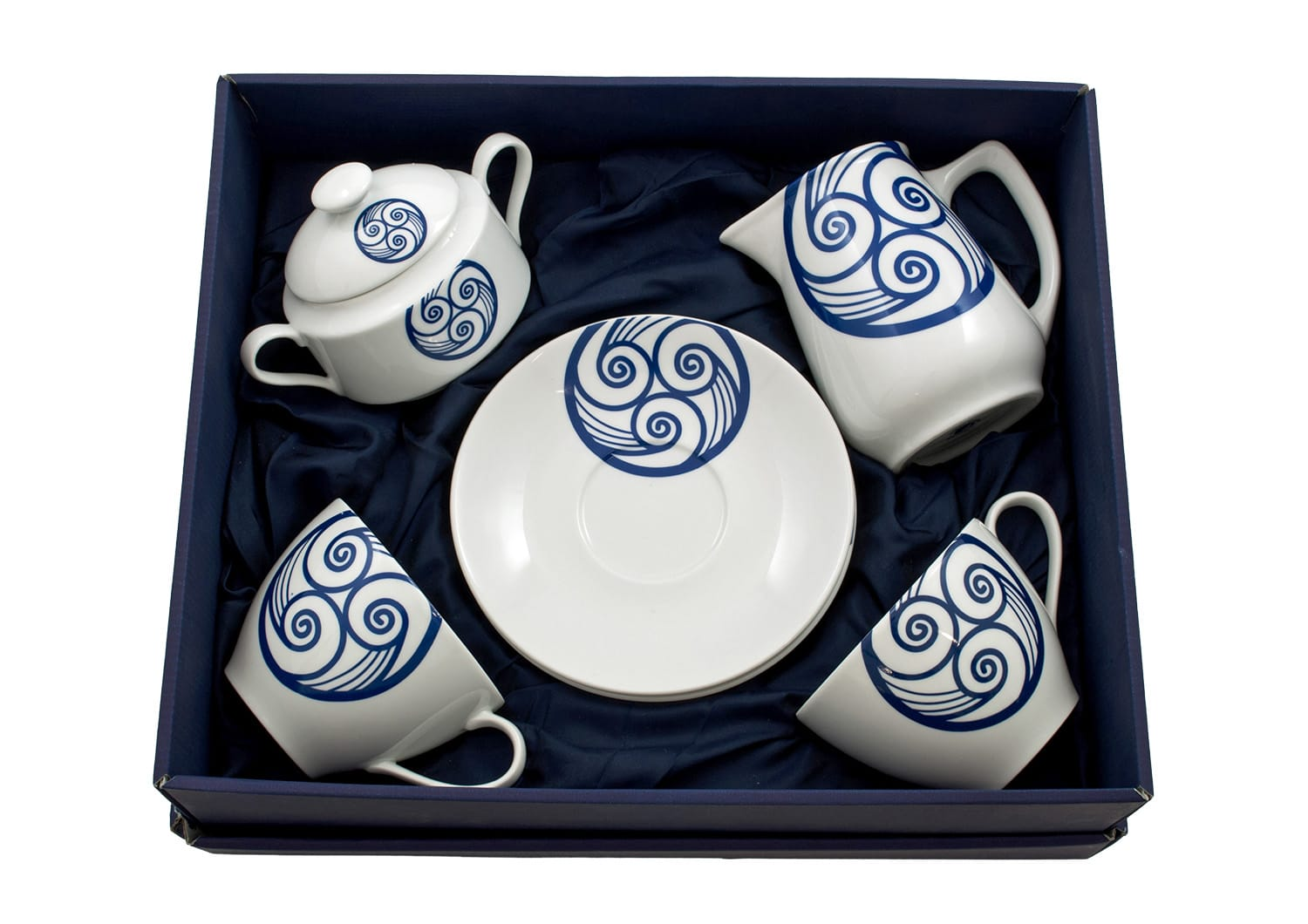 Four-piece breakfast set. Volare design, Lua collection.