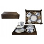 Four-piece breakfast set in wooden box. Volare Desing, Celta Collection