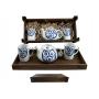 Four-piece tea set in wooden box. Ema Mug desing, Lua Collection