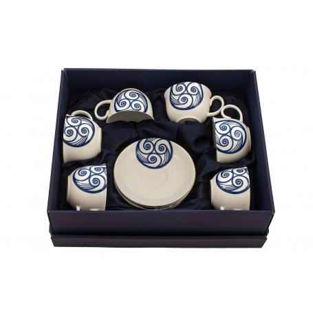 Six-mug tea set Moments. Lua collection.