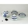Four-piece tea set. Moments design, Celta collection.