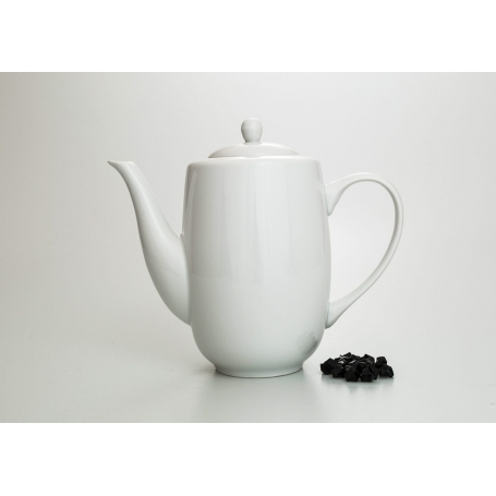 Straight coffee pot. Moments design, White collection.