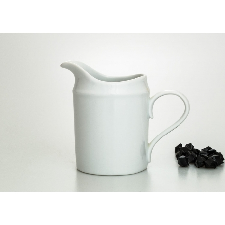 Moments milk pot. White collection.