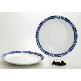 Coupé dinner plate. Celta collection.