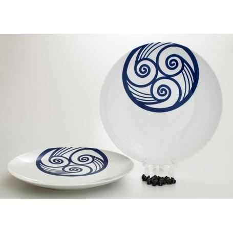Coupé dinner plate. Lua collection.