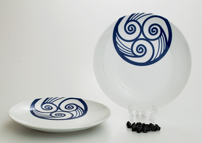 Coupé dessert plate. Lua collection