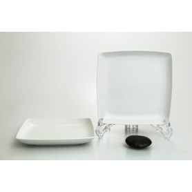 White appetizer plate. Frio design.