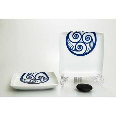 Plato porcelana cuadrado aperitivos frío Lúa (17,5 x 17,5 cm)