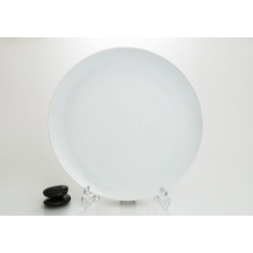 Porcelain pizza platter. White collection
