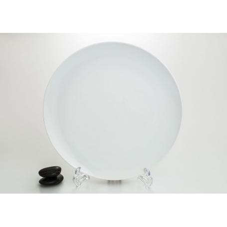 Porcelain pizza platter. White collection
