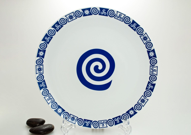 Porcelain pizza platter. Celta collection.