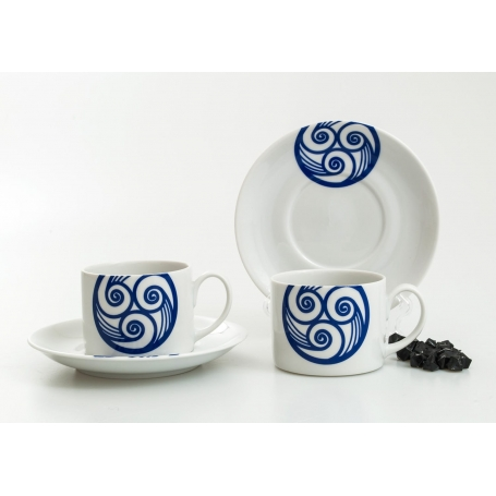 Tea cup and saucer. Pombal design, Lua collection.