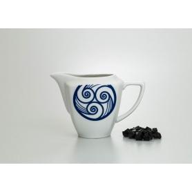 Milk pot. Square design, Lua collection.