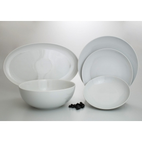 20-piece dinnerware set. Coupe design, White collection.