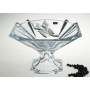 Bohemian glass footed centrepiece Metropolitan