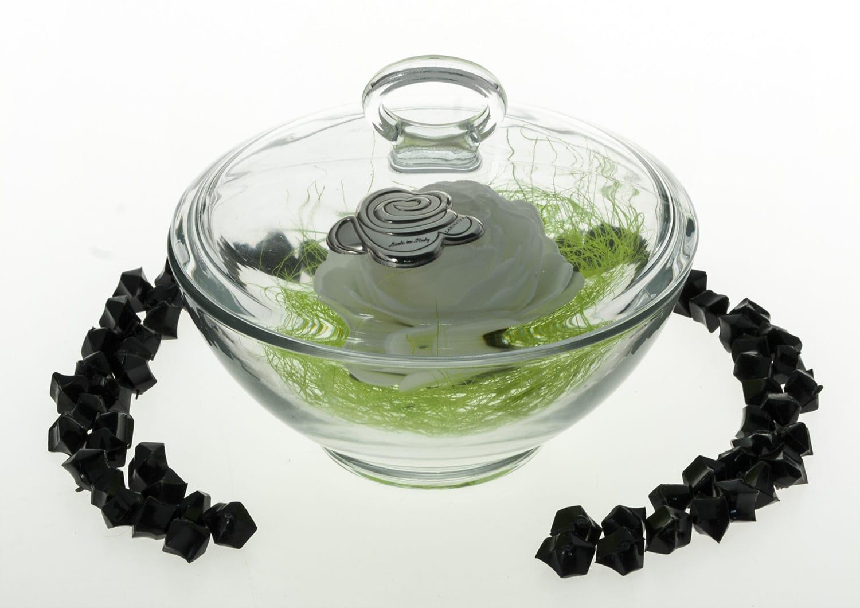 Aqua candy box. Bohemiam glass