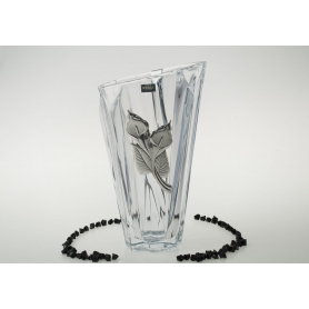 Bohemian glass Angle Treasure vase