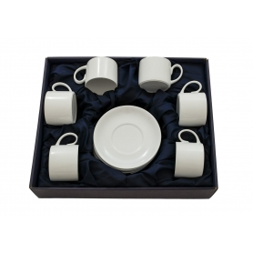 Six-cup tea set. Pombal design. White collection.