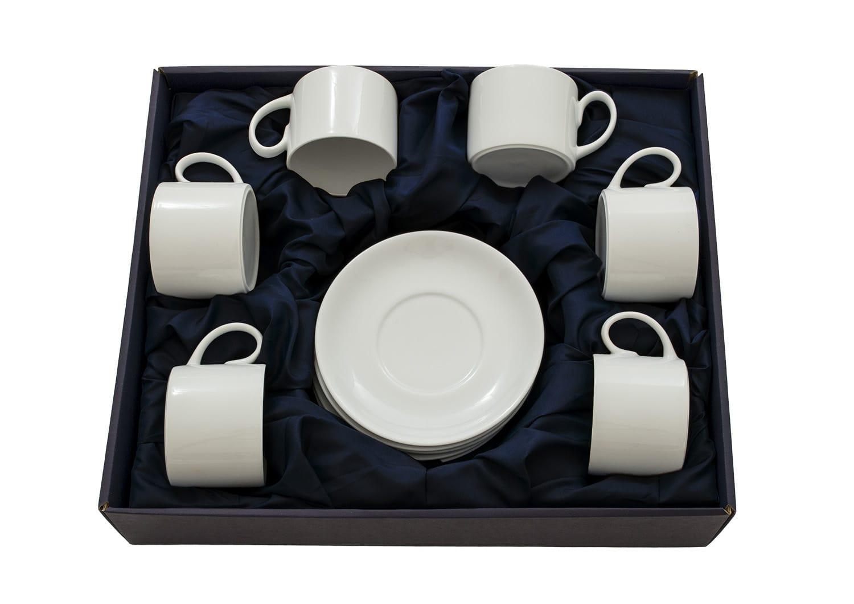Set de té Pombal 6 tazas col. Blanca