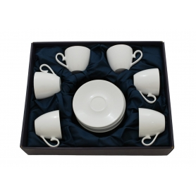Six-cup tea set. Volare design, White collection.