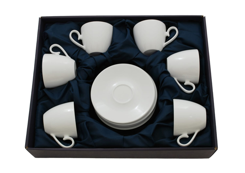 Six-cup tea set. Volare design, White collection.