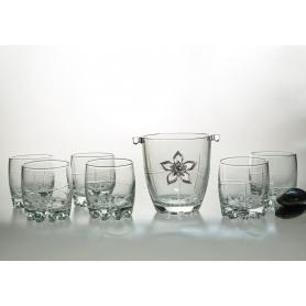 Juego de Whisky Silvana 7 pz con cubitera (talla 203)