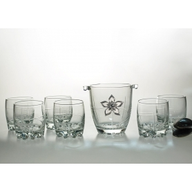7 pz Silvana Whisky set with ice bucket (203 engraving)
