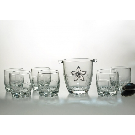 Sylvana Whisky set with ice bucket. 7 pz (203 engraving)