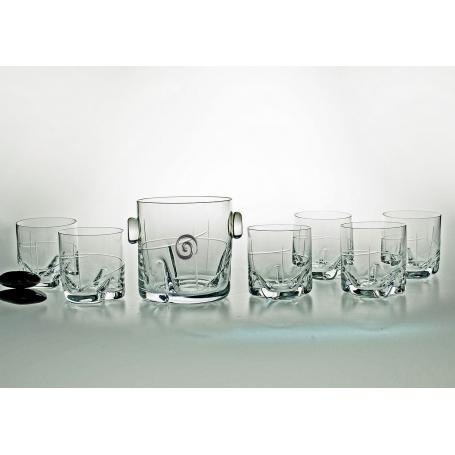 7 pz Suerte Whisky set with ice bucket (203 engraving)