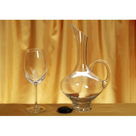 Gastro 590 wine set. 6 glasses and decanter 2610 (J7 engraving)