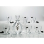 Laguna Whisky set with Quadro glasses. Bohemian glass