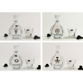 Laguna Whisky set with Quadro glasses. Bohemian glass