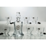 Quadro Whisky set. Bohemian glass