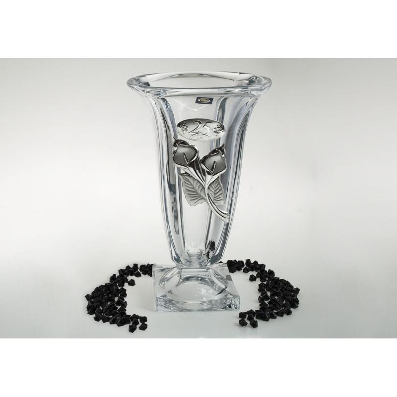 Bohemian Glass Magma Vase Anniversary Gift Cristalsio