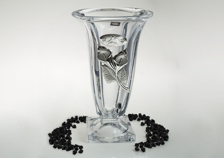 Bohemian glass vase Magma . Anniversary gift.