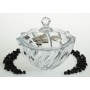 Bohemian glass Scallop candy box. Wedding/anniversary gift.
