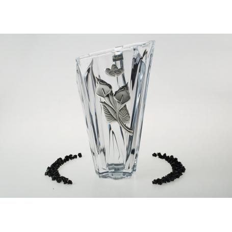 Bohemian glass, Angle treassure Vase. Wedding/anniversay gift.