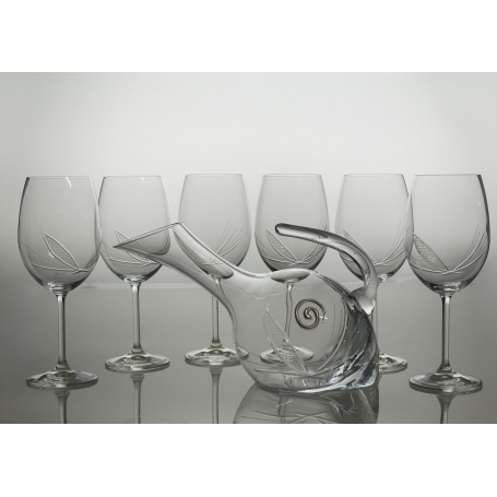 Gastro 590 wine set. 6 glasses and decanter 38683 (J7 engraving)