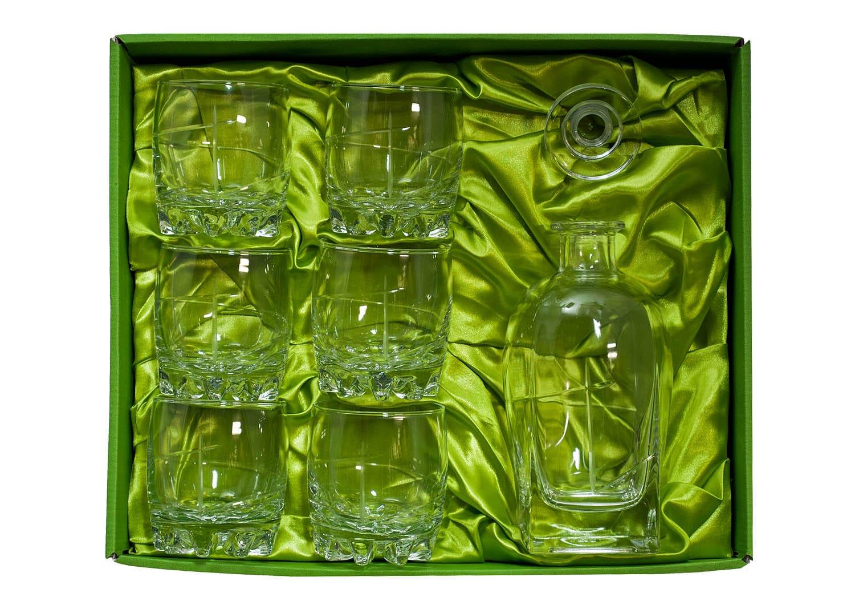 Sylvana Whisky set with Rossini bottle. 7 pz (203 engraving)