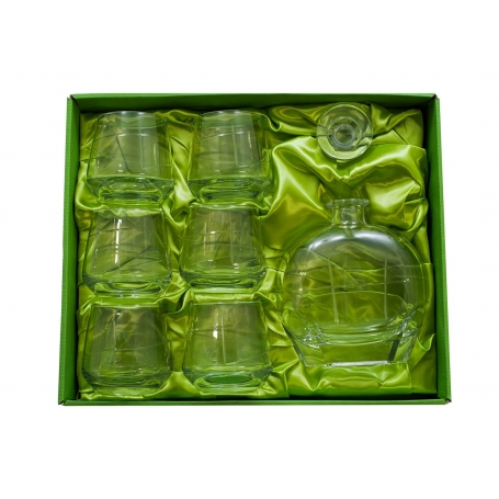 Alma Whisky set with Puccini bottle. 7 pz (203 engraving)