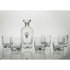 Sylvana Whisky set with Rossini bottle. 7 pz (203 engraving)
