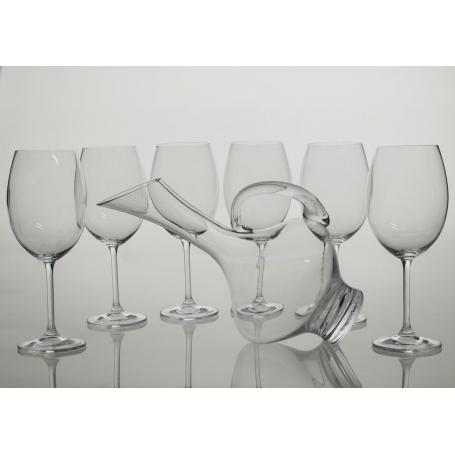 Gastro wine set. 6 glasses and decanter 2610