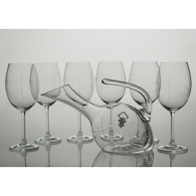 Gastro wine set. 6 glasses and decanter 38683 (J7 engraving)