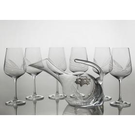 Juego de vino Ultima, 6 copas con decantadora 38683 (talla J7)