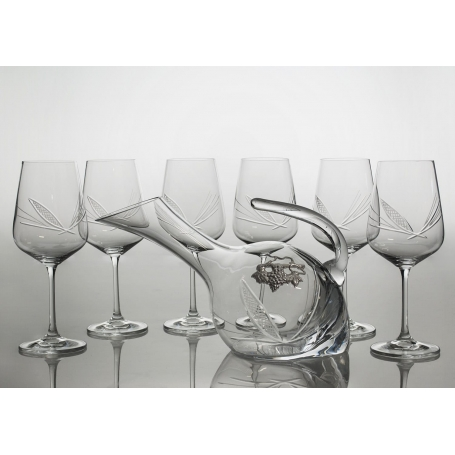 Ultima 450 wine set. 6 glasses and decanter 38683 (J7engraving)