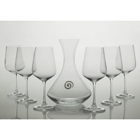 Ultima wine set. 6 glasses and decanter 31AA09 (E5 engraving)