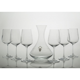 Ultima wine set. 6 glasses and decanter 31AA09 (203 engraving)